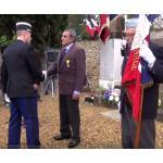 Médaille militaire pour Roger le gnomoniste et Antoine Scotto qui a reçu la Médaille d'Argent des Porte-drapeaux