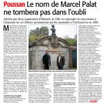Au conseil municipal, la ville valide la reprise du caveau de Marcel Palat.